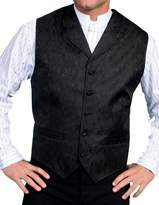 Scully Old West Vest Mens Paisley Formal Polyester 2XT Black RW093