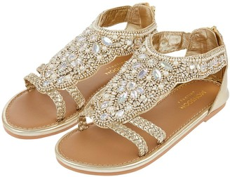 Monsoon Valencia Beaded Scallop Sandal - Gold