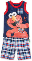 Nannette 2-Pc. Elmo Graphic-Print Tank Top and Shorts Set, Toddler and Little Boys (2T-7)