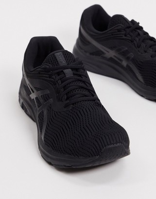 Asics Running Gel-Pulse 11 trainers in black and grey