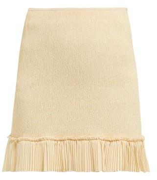 Chloé Pleated-hem Plisse Mini Skirt - Womens - Beige
