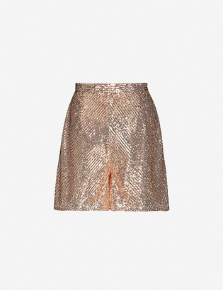 Maje Ipaillette high-rise sequinned shorts