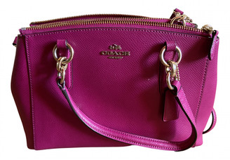 Coach Crossgrain Kitt Carry All Red Leather Handbags