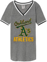 PINK Oakland Athletics Bling Perfect V-Neck Tee
