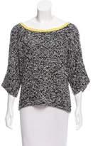 Diane von Furstenberg Scoop Neck Long Sleeve Sweater