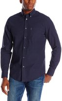 Ben Sherman Men's Classic Long Sleeve Gingham Button-Down Shirt