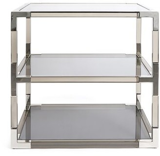 Jonathan Adler Jacques 2 Tier End Table Table Base Color: Nickel