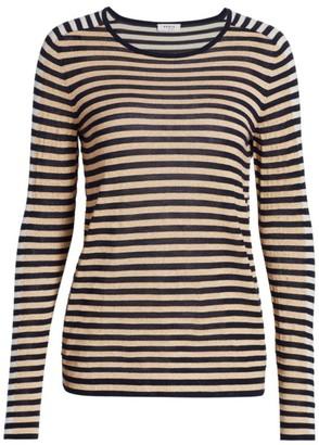 Akris Punto Tri-Color Lurex Stripe Sweater
