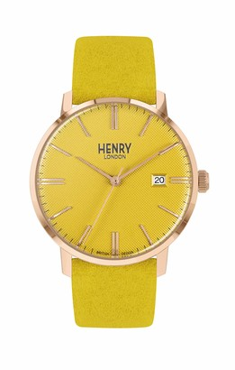 Henry London Unisex Adult Analogue Classic Quartz Watch with Leather Strap HL40-S-0364