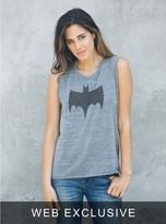 Junk Food Clothing Batman Raglan Tank-steel-m