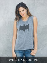 Junk Food Clothing Batman Raglan Tank-steel-s