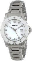 Wenger Women's 70388 Sport White Dial Steel Bracelet Watch