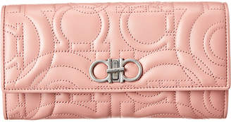 Salvatore Ferragamo Gancini Quilted Leather Wallet