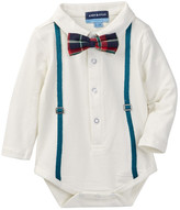 Andy & Evan Holiday Plaid Bowtie Bodysuit (Baby Boys)
