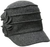 San Diego Hat Company Women's Wool Cadet with Right Side Flower