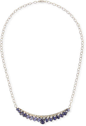 Siena Jewelry Diamond & Iolite Crescent Necklace