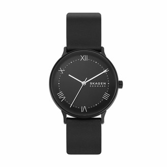 Skagen Men's Nillson Quartz Analog Stainless Steel and Leather Watch