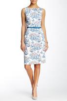 Nine West Boat Print Sheath Dress