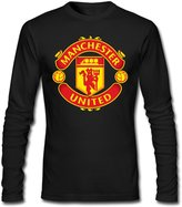 KINDO Men's Manchester United Football Club Long Sleeve T Shirt Cotton Tees