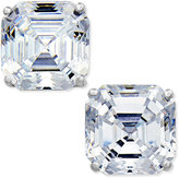 Arabella Swarovski Zirconia Asscher Stud Earrings in 14k White Gold, Only at Macy's