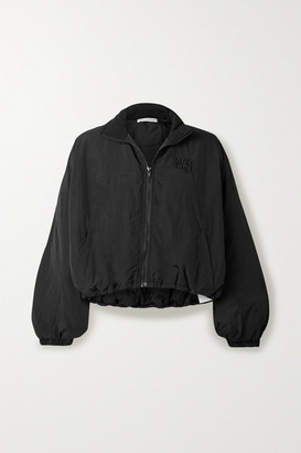 Alexander Wang Cropped Embroidered Shell Jacket - Black