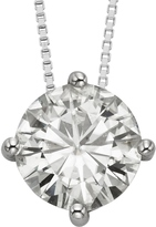 3 1/9 CT TW DEW Forever One Moissanite 14K White Gold Solitaire Pendant Necklace