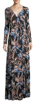 Rachel Pally Harlow Long-Sleeve Floral-Print Jersey Wrap Dress