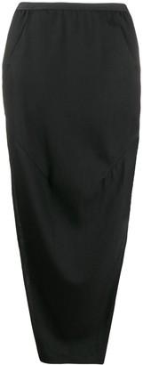 Rick Owens High-Waisted Long Skirt