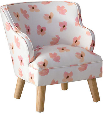 One Kings Lane Kira Kids' Accent Chair - Pink Petals - frame, natural; upholstery, pink petals