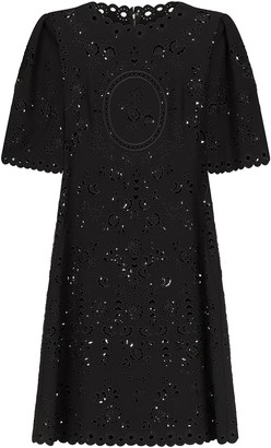Dolce & Gabbana Floral Embroidered Short-Sleeve Dress