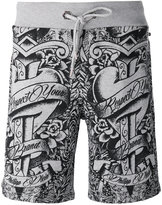 Philipp Plein tattoo print track shorts - men - Cotton - XL