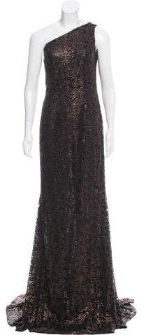 Carmen Marc Valvo Embroidered Evening Dress w/ Tags
