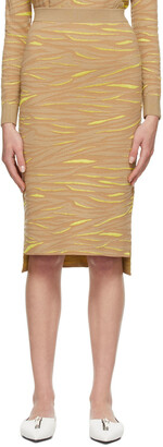 Stella McCartney Beige & Yellow Animal Pattern Skirt