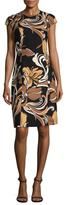 Escada Wool Printed Flare Dress