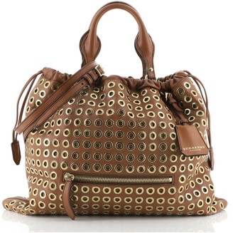 Burberry Eyelets Big Crush Tote Leather Large