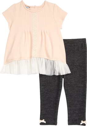 Pippa & Julie Pintuck Tunic & Leggings Set
