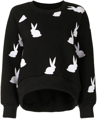 Cynthia Rowley Flynn flocked bunnies sweatshirt
