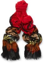Saint Laurent - Palm Tree-print Wool Scarf