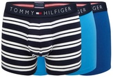 Tommy Hilfiger Pack Of Three Blue And Navy Trunks