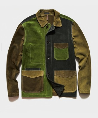 Drakes TS x Patchwork Chore Jacket in Olive