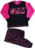 ThePyjamaFactory Girls Eat Sleep Mine Pajamas All Over Print 7 to 14 Years