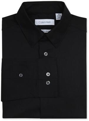 Calvin Klein Solid Long Sleeve Slim Fit Shirt