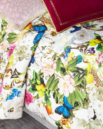 Roberto Cavalli Blaze 300 Thread-Count Duvet Cover, Queen