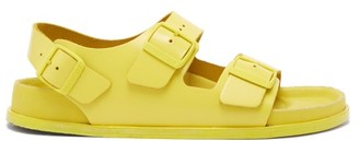 Birkenstock 1774 - Milano Ankle-strap Leather Sandals - Yellow
