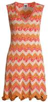 M Missoni Metallic Chevron Knit Dress