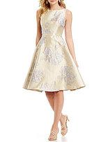 Adrianna Papell Beaded Waist Full Circle Skirt Dress
