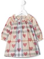 Burberry heart print dress - kids - Cotton - 6 mth