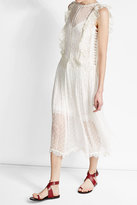Zimmermann Embroidered Silk Dress with Crochet