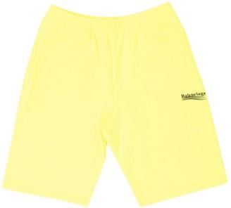 Balenciaga Fluorescent Yellow Sweat Shorts