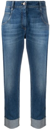 Brunello Cucinelli Turn-Up Cuff Straight Leg Jeans